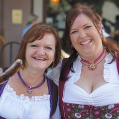 Doris and Christina sling sausage