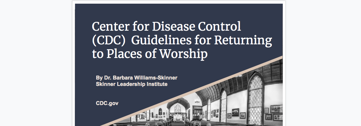 CDC Guidelines for Returning to Places of Worship