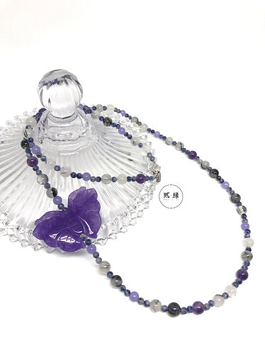 Purple Butterfly Necklace