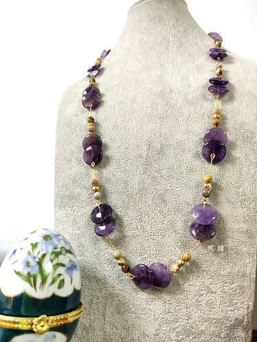 Ovlier  Amethyst  Necklace