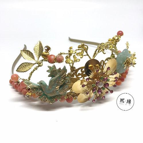 Bird Set Free Brass Crown