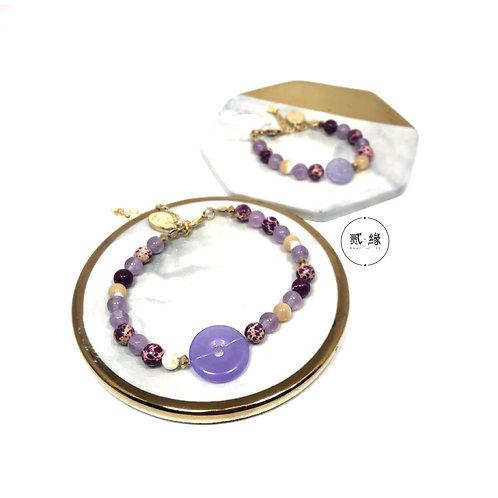 Peace of 2's Bracelet  (purple)