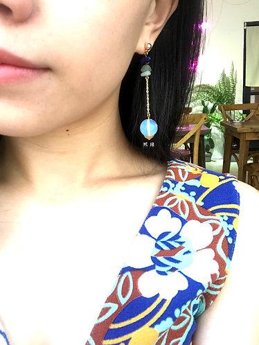 Rainbow Moon Earrings