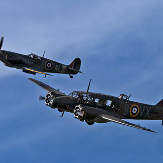 Spitfire and Avo Anson