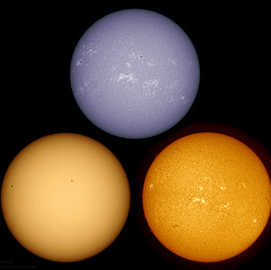 Different wavelenght Sun