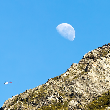 The Moon over the Mt Cook Range