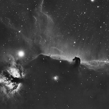 The Flame and Horse Head Nebulas