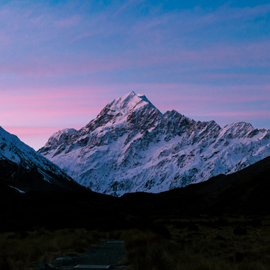 Sunset over Aoraki/Mt Cook