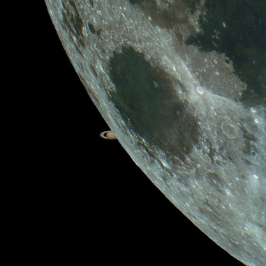 Moon Saturn Occultation
