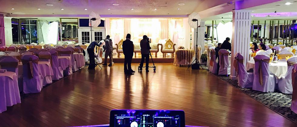 Indian Wedding Reception Setup