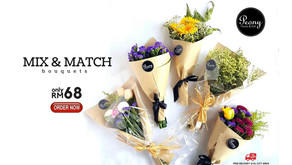 Mix & Match Bouquets at only RM68!*