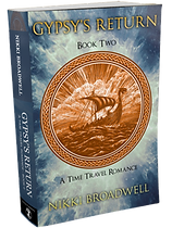 Gypsy's Return - 3D book cover by author Nikki Broadwell