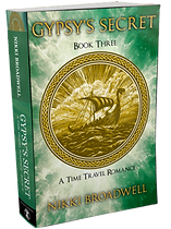 Gypsy's Secret - 3D book cover by author Nikki Broadwell