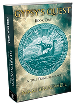 Gypsy's Quest 3D book cover by author Nikki Broadwell