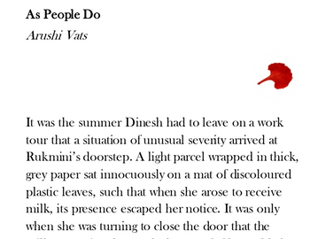 Fiction | As People Do