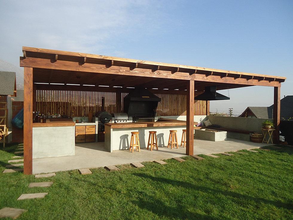 terrazas y quinchos obraa chile