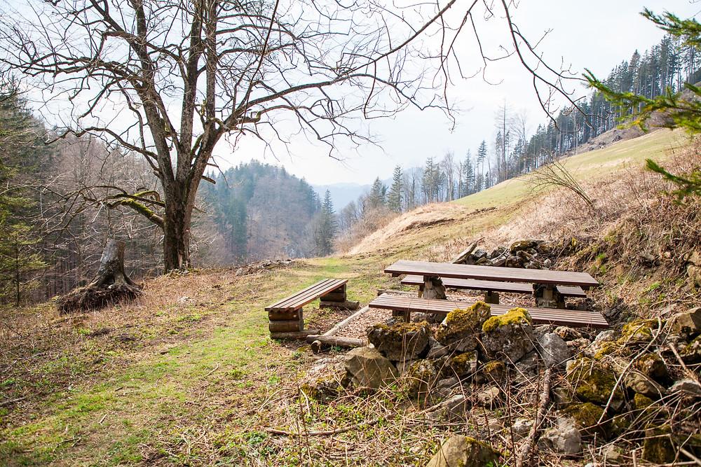 Rastplatz, Hohenstein, Pielachtal, Mostviertel, Niederösterreich, Wandern, Wanderung, Bergwandern