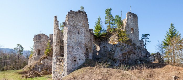 Wandern Mostviertel: Ruine Rabenstein - Geisbühel im Pielachtal/ Niederösterreich