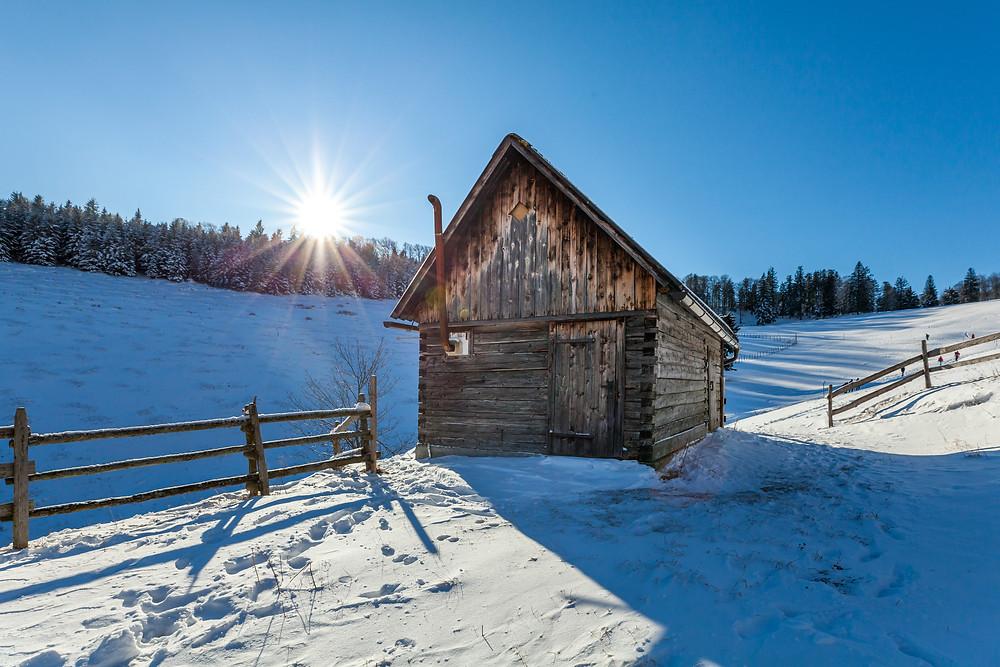 Eisenstein, Alpenvorland, Niederösterreich, Mostviertel, Traisental, Pielachtal, Türnitz, Wandern, Wanderung, Wandertipp, Winterwandern, Gipfeltour, Schnee, Winter, Alm, Almhütte