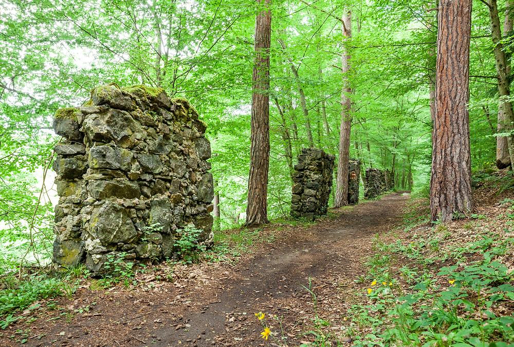 Kamp, Kamptal, Steinegg, Ödes Schloss, Wandern, Wanderung, Ausflug, Waldviertel, Niederösterreich, Steinmauer