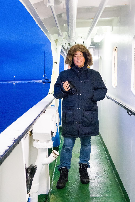 auf der MS Lofoten im Hafen von Tromsö