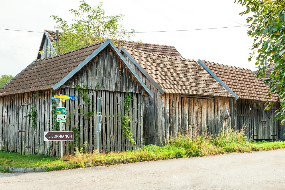 Stadel, Holzstadel, Holzhütte, Schuppen, Holzschuppen, Weinviertel, Niederösterreich, Wandern, Wanderung