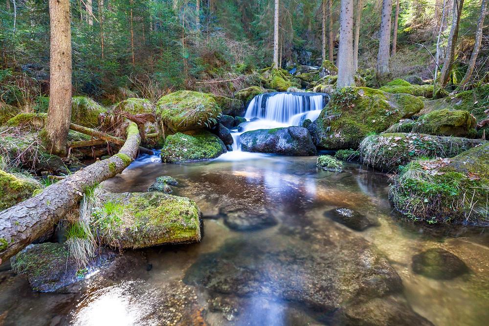 Lohnbachfall, Wasserfall, Waldviertel, Niederösterreich, Wandern, Wanderung