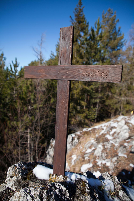 Gipfelkreuz, Steinkamp, Ramsau, Voralpen, Niederösterreich, Wandern, Wanderungen, Steig, Winterwandern, Winter