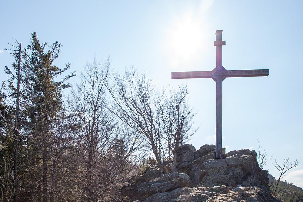 Peilstein, Waldviertel, Gipfelkreuz, Gipfel, Wandern, Wanderung, Niederösterreich
