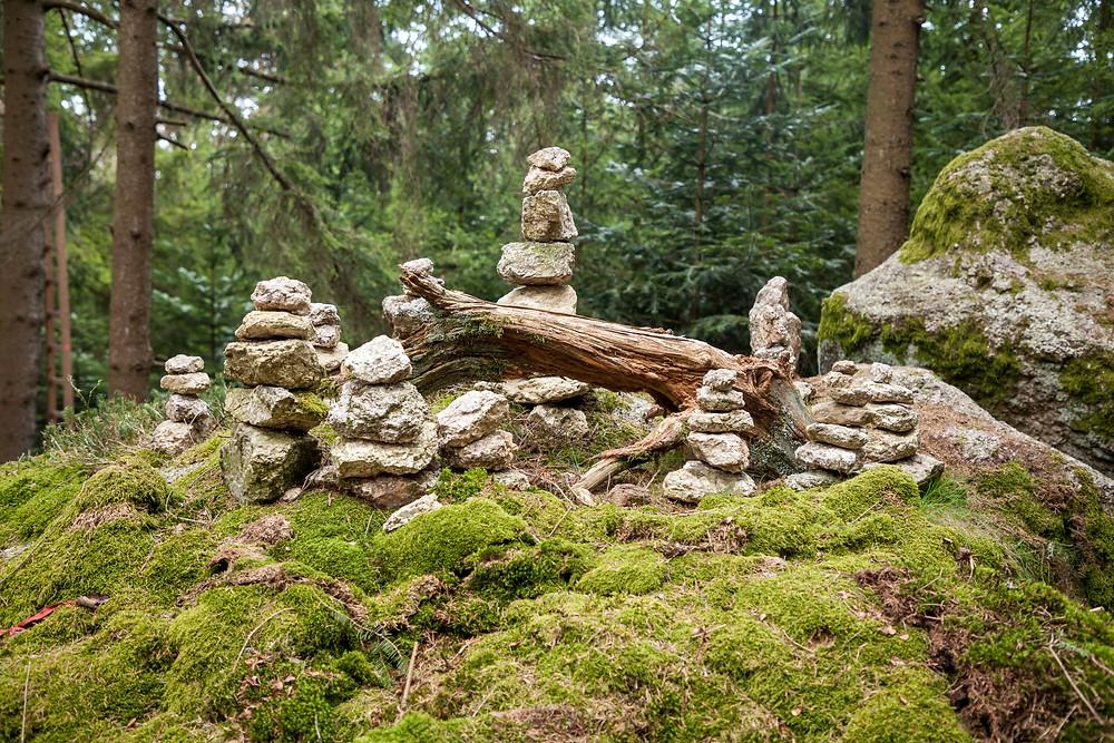 Steinmännchen, Steinmann, Steine, Berg, Markierung