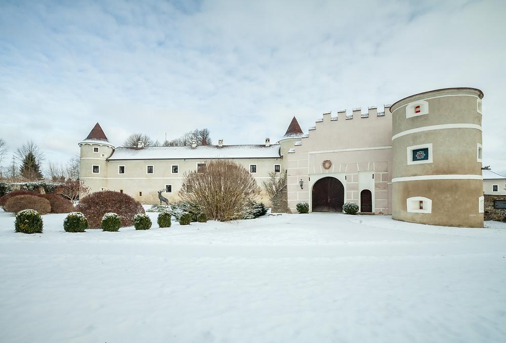 Schloss Waldreichs, Waldviertel, Kamp, Kamptal, Greifvogelzentrum, Niederösterreich, Wanderung, wandern, Winterwandern, Winterwanderung, Wanderreise, Wanderurlaub,