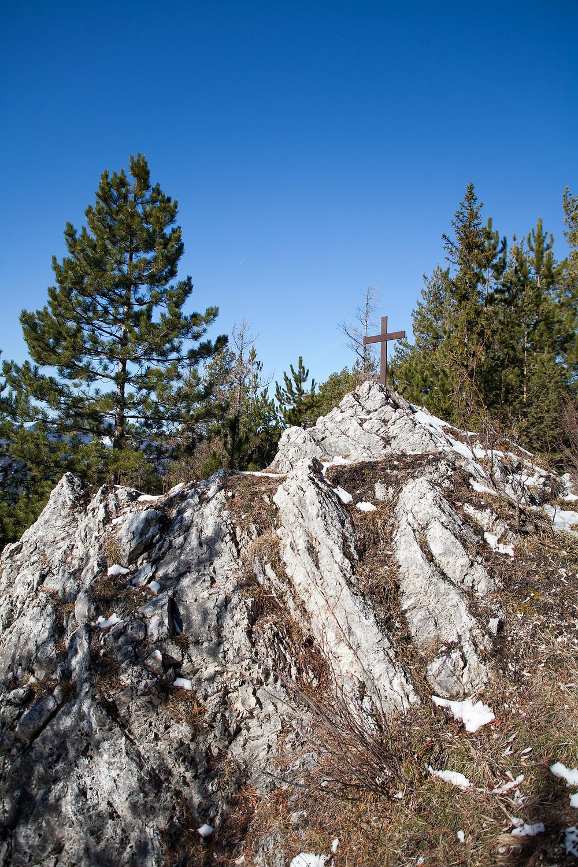 Steinkamp, Unterberg, Voralpen, Ramsau, Niederösterreich, Wandern, Wanderungen, Steig, Gipfelkreuz, Gipfel,