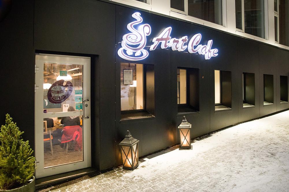 Art Cafe in Tromsö ist ein Lokaltipp für regionales Essen