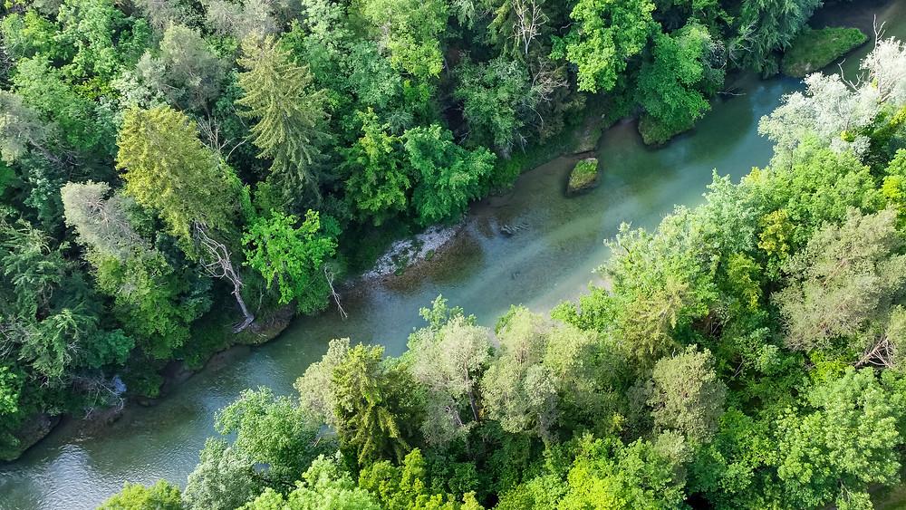 Luftbild, Drohneuaufnahme, Erlaufschlucht, Erlauf, Purgstall, Mostviertel, Klamm, Schlucht, wandern, Wanderung, Ausflug, Niederösterreich