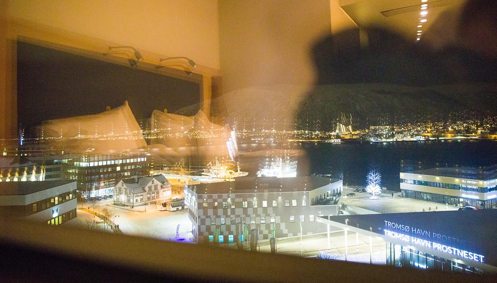 Aussicht aus dem Zimmer im neunten Stock des Hotels Clarion the edge in Tromsö