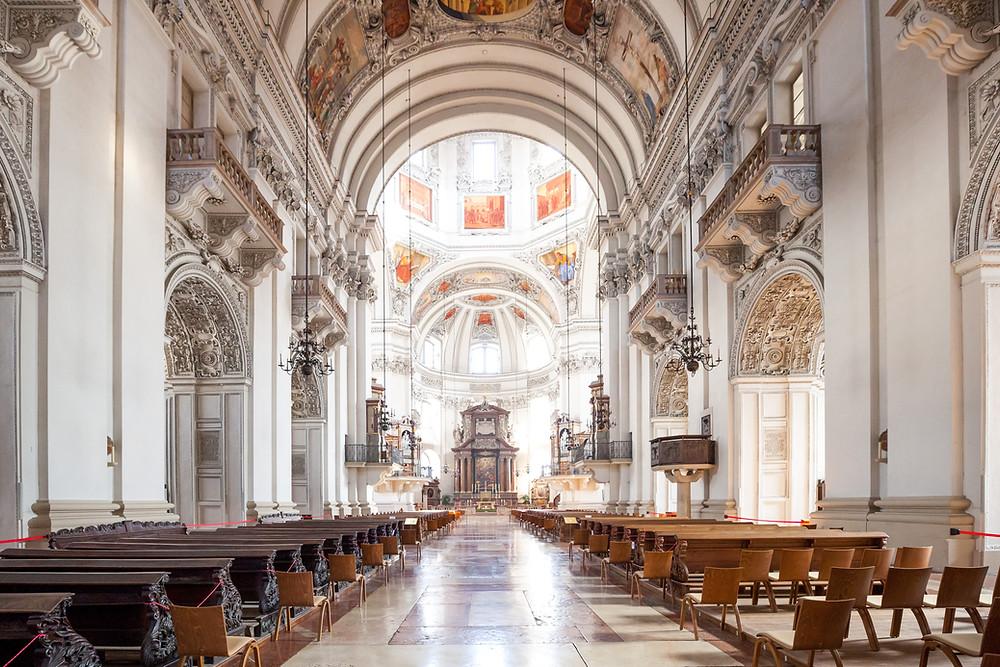 Salzburger Dom, Domkirche, Barock, Salzburg, Salzburg Altstadt, Mozartstadt, Kurzurlaub, Stadtwandern, Stadtwanderung, Besichtigung, Sightseeing, Kulturrundgang, Sehenswürdigkeiten, Spaziergang,