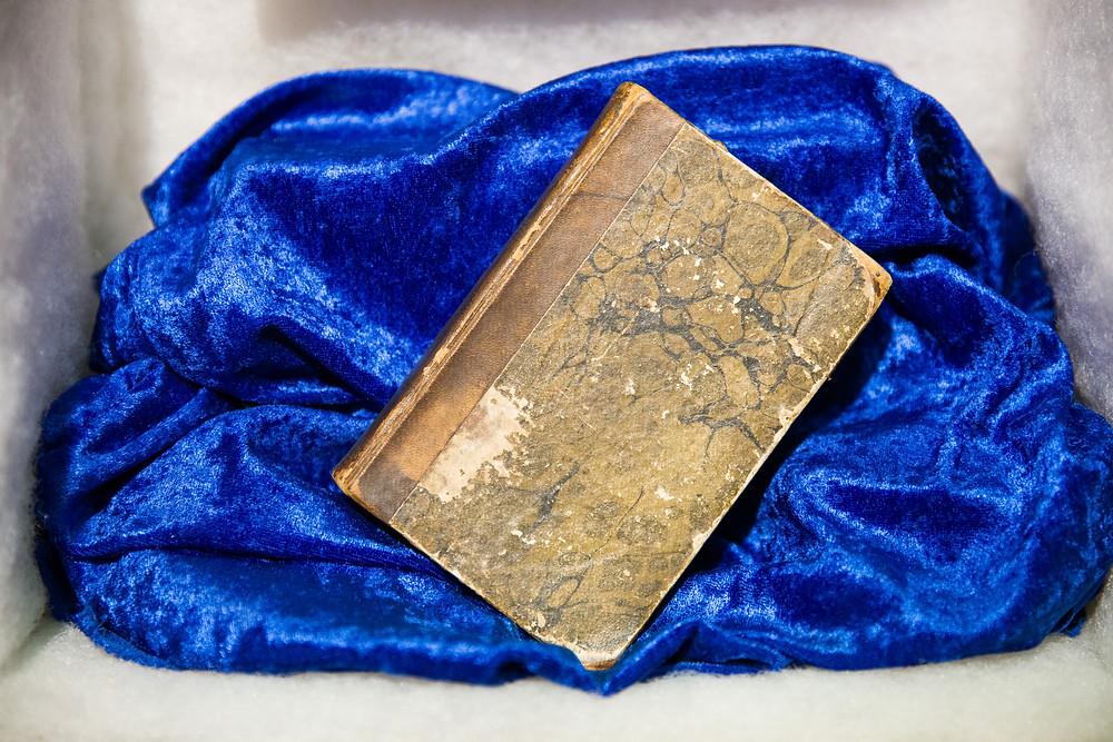 Buch von Amundsen im Polarmuseum Tromsö
