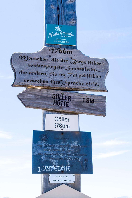 Gipfelkreuz, Gipfel, Göller, Mostviertel, Alpen, Niederösterreich, Wandern, Bergtour, Wandertipp, Bergwandern