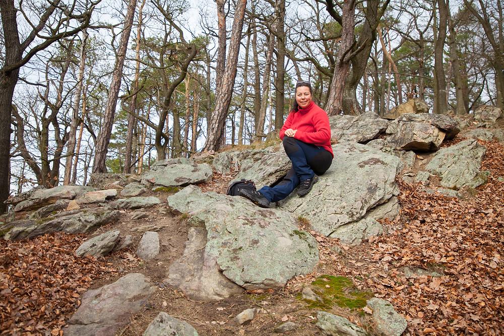 Steinformation, Vogelbergsteig, Wachau, Dürnstein, Wandern, Wanderung, Pause, Wanderlust