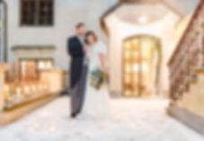 Winterhochzeit mit Brautpaar in der Wachau in Niederöstreich