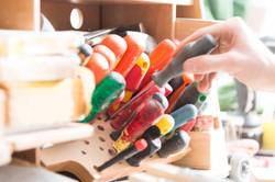 Werkzeugkasten eines Tischlers