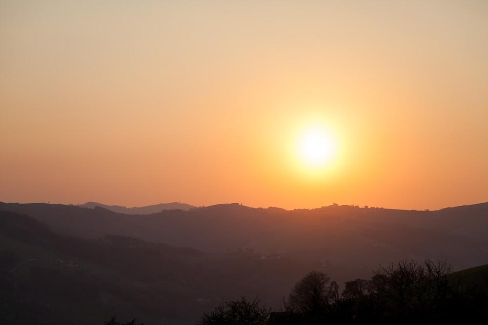 Sonnenuntergang, Landschaft, Mostviertel, Niederösterreich,