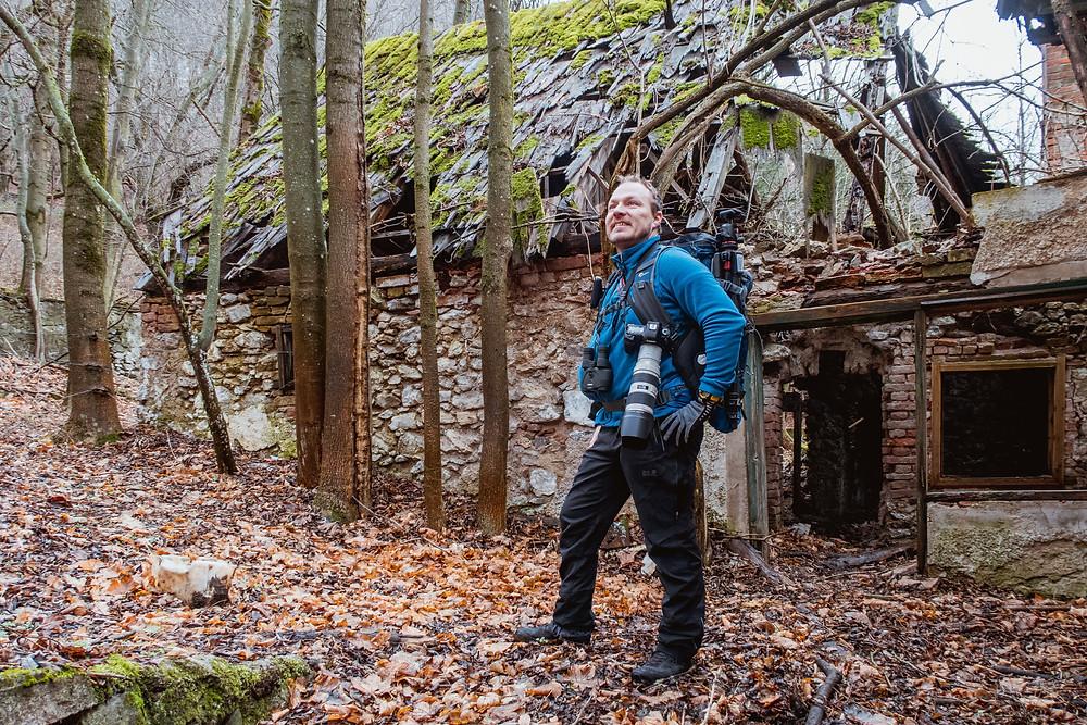 Gerald Lechner von den Reisereportern mit Fotoausrüstung