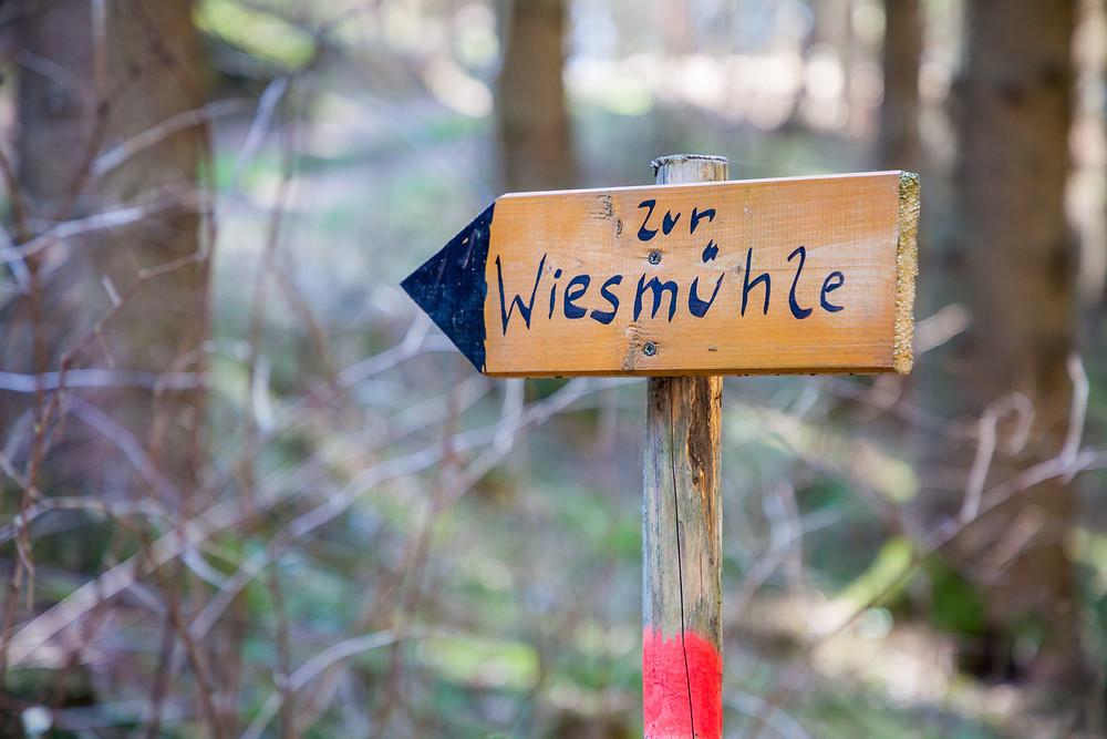 Wanderweg, Wandermarkierung, Rappottenstein, Waldviertel, Niederösterreich, Wandern, Wanderung