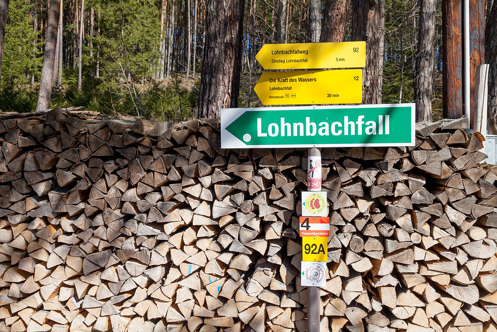 Lohnbachfall, Wanderung, Wandern, Wandermarkierung, Waldviertel, Wasserfall, Niederösterreich