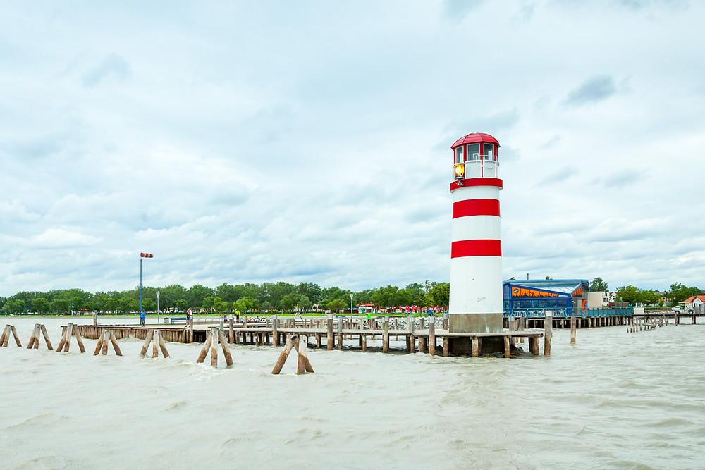 Podersdorf, Neusiedler See, Neusiedlersee, Burgenland, Österreich, Urlaub, Reise, Kurzurlaub, Leuchtturm, Strand