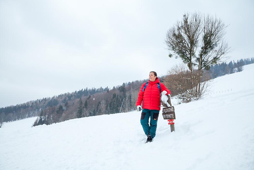 Eibl, Türnitz, Mostviertel, Niederösterreich, Alpen, Wandern, Wanderung, Winterwandern, Winterwald, Schnee, Winterurlaub, Winterspaß, Bergtour, Bergerlebnis. Sonja Lechner, die reisereporter
