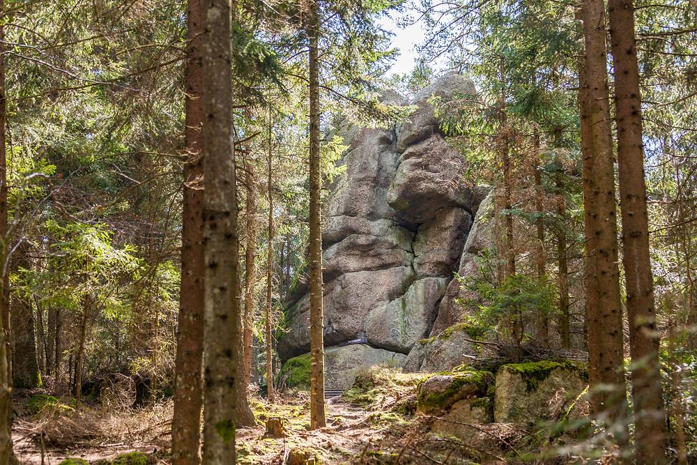 Totenkopfstein, St. Oswald, Waldviertel, Niederösterreich, Wackelstein, Granit