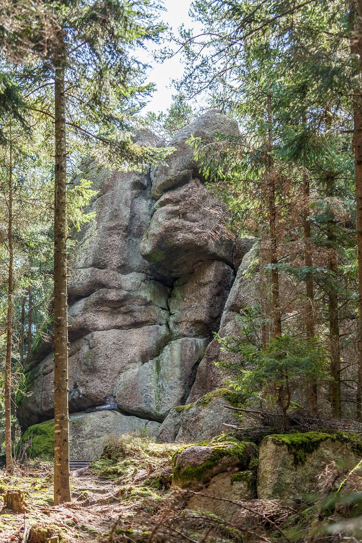 Totenkopfstein, St. Oswald, Ysper, Waldviertel, Niederösterreich, Granit, Fels, Wandern, Wanderung