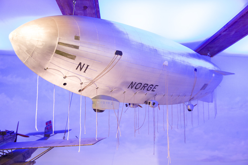 Zeppelin im Polarmuseum Tromsö
